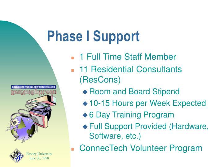 Phase I Support