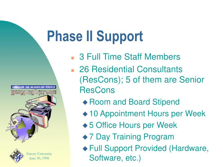 Phase II Support
