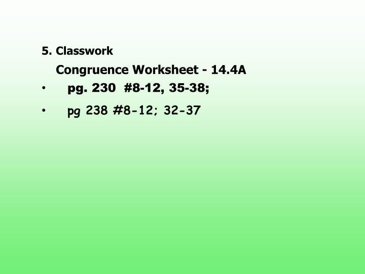 5.Classwork