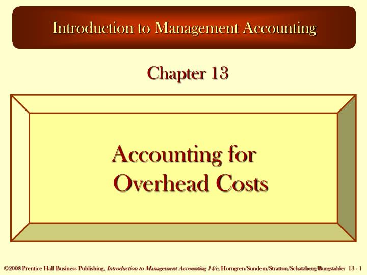 introduction to management accounting assignment