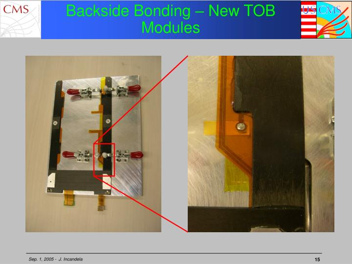 Backside Bonding – New TOB Modules