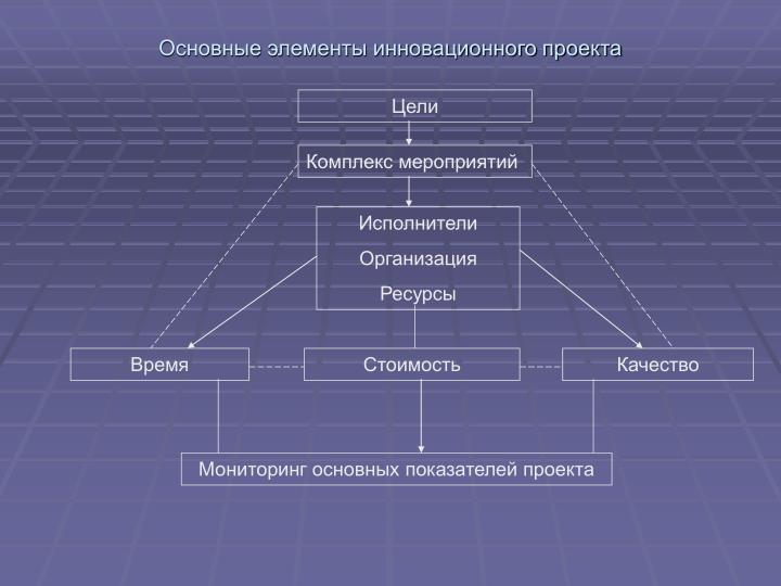 Основные элементы инновационного проекта