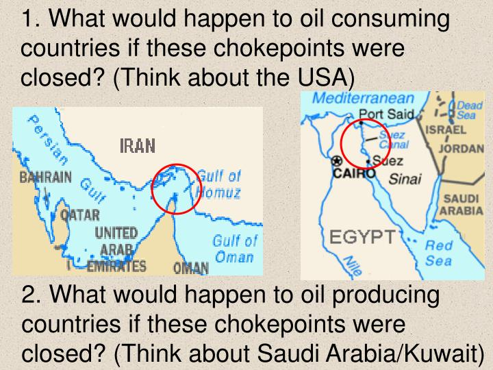 1. What would happen to oil consuming