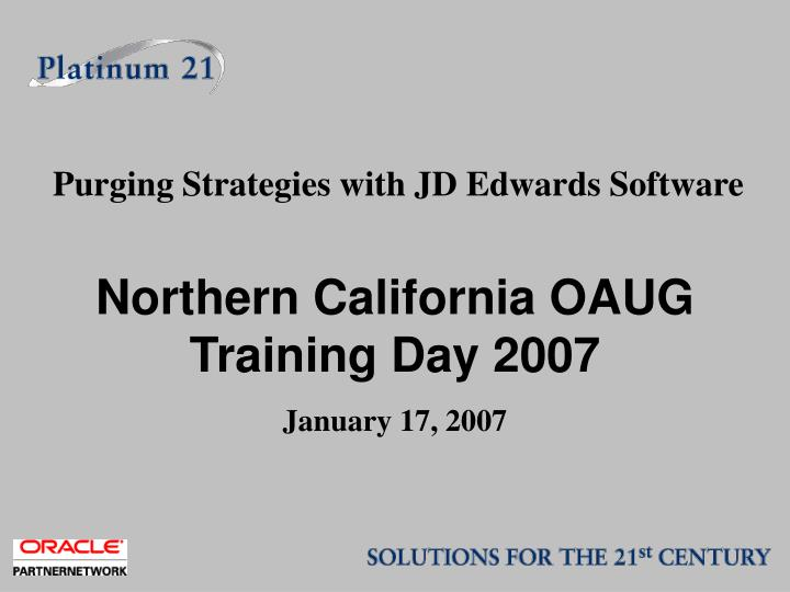 Purging Strategies with JD Edwards Software