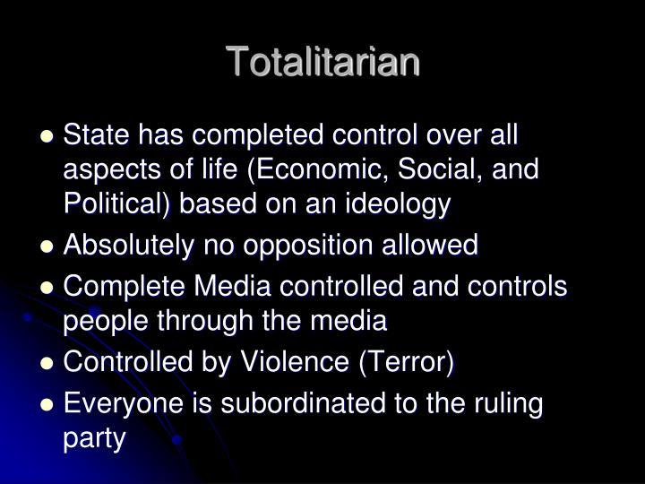 Totalitarian