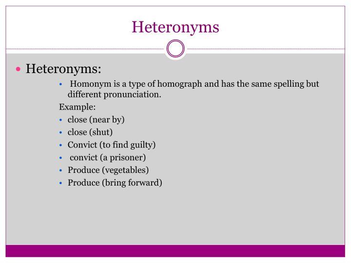 Heteronyms