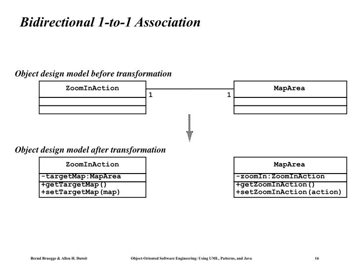 Bidirectional 1-to-1 Association