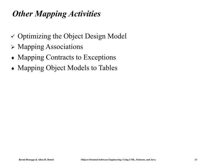 Other Mapping Activities