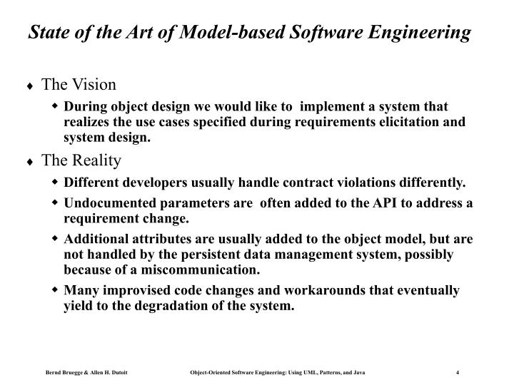 State of the Art of Model-based Software Engineering