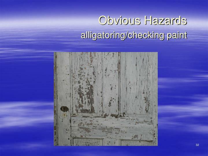 Obvious Hazards