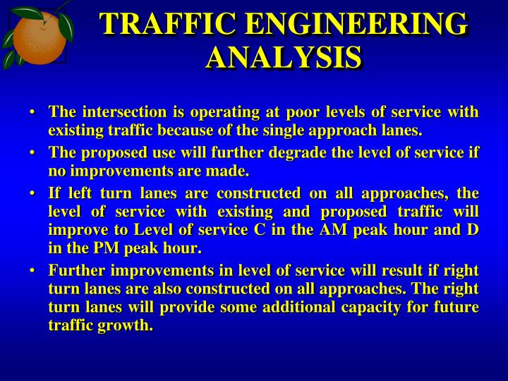 TRAFFIC ENGINEERING ANALYSIS