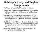babbage s analytical engine components