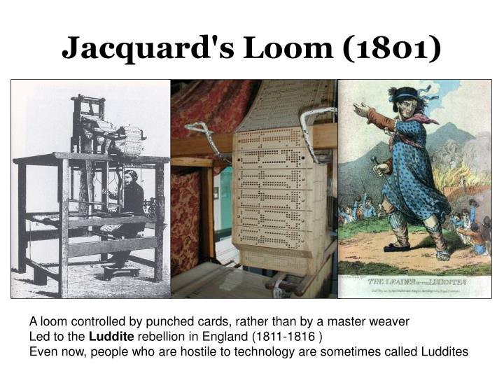 Jacquard's Loom (1801)