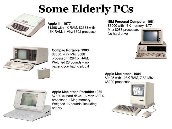 Some Elderly PCs