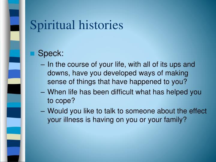 Spiritual histories