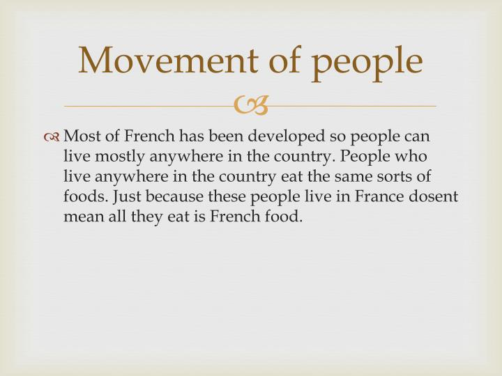 Movement of people