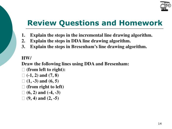 Review Questions and Homework