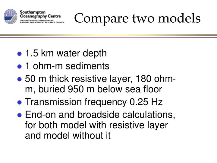 Compare two models