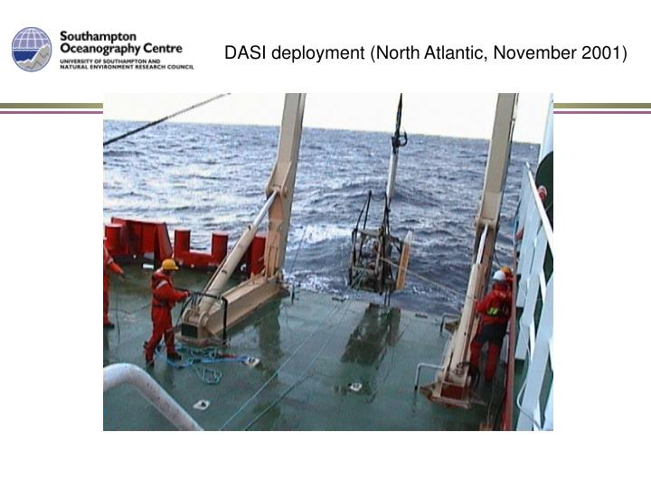 DASI deployment (North Atlantic, November 2001)