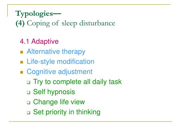 4.1 Adaptive