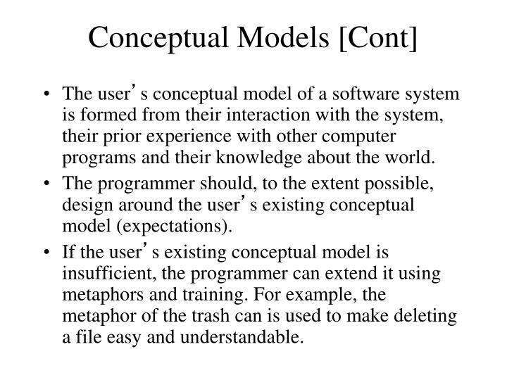 Conceptual Models [Cont]