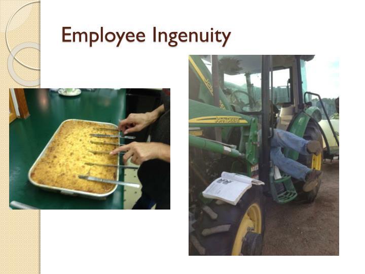 Employee Ingenuity