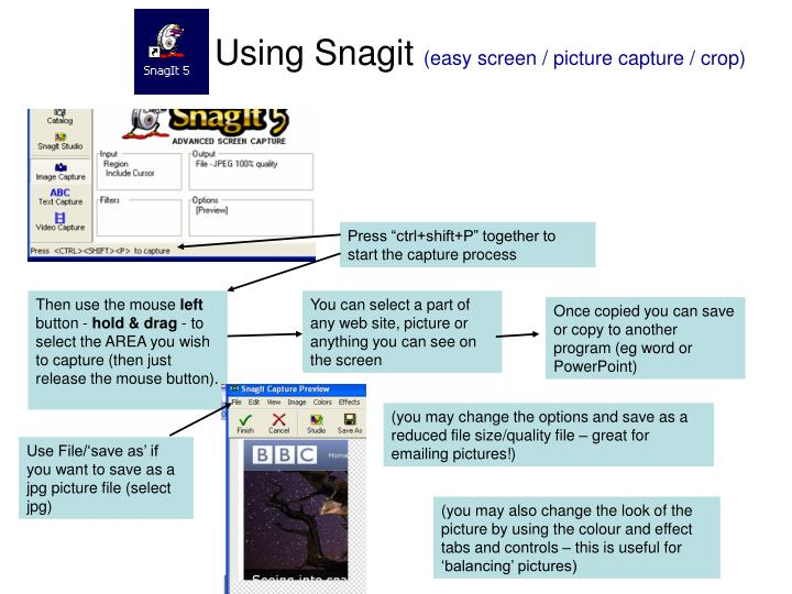 Using Snagit