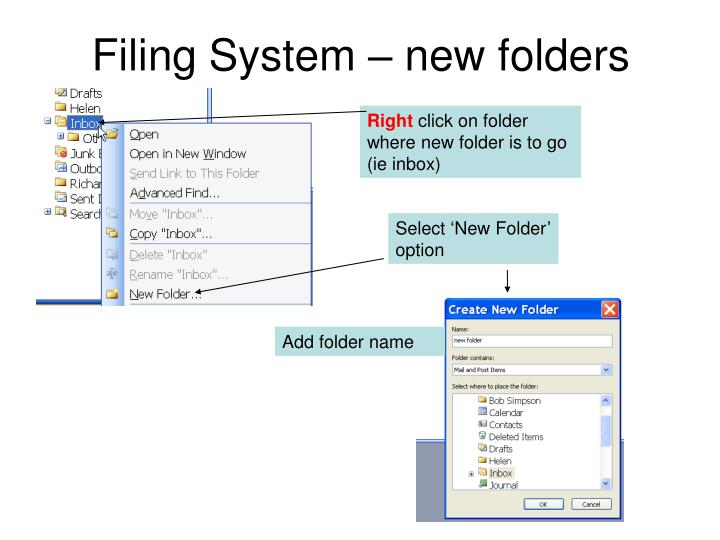 Filing System – new folders
