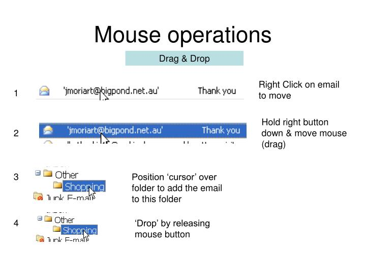 Mouse operations
