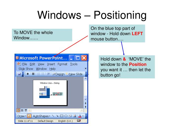 Windows – Positioning
