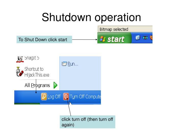 Shutdown operation