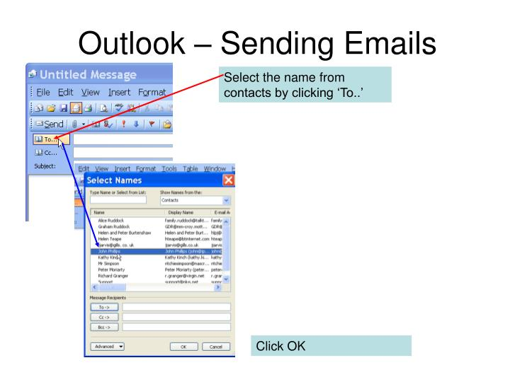 Outlook – Sending Emails