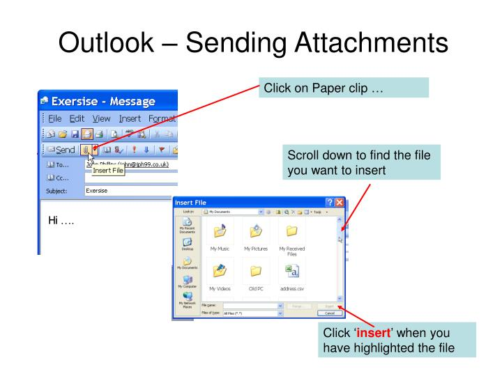 Outlook – Sending Attachments
