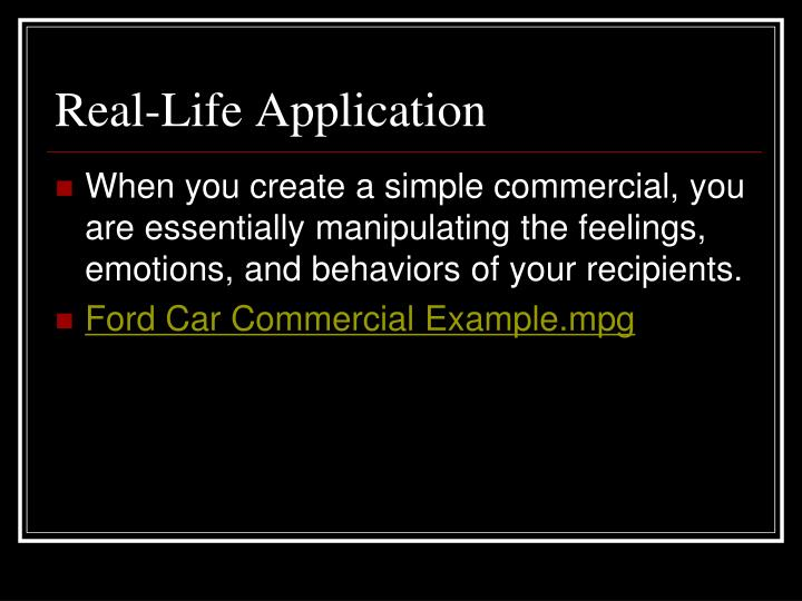 Real-Life Application