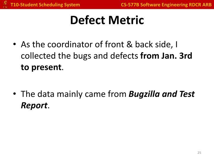 Defect Metric