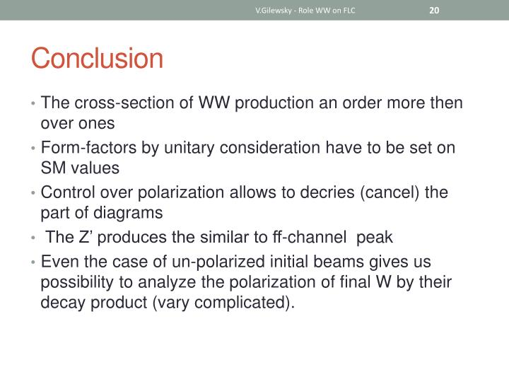 V.Gilewsky - Role WW on FLC