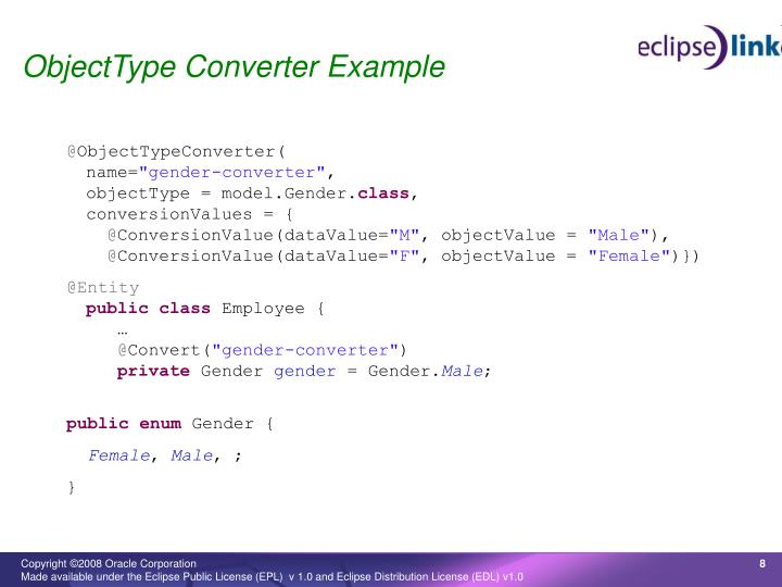 ObjectType Converter Example