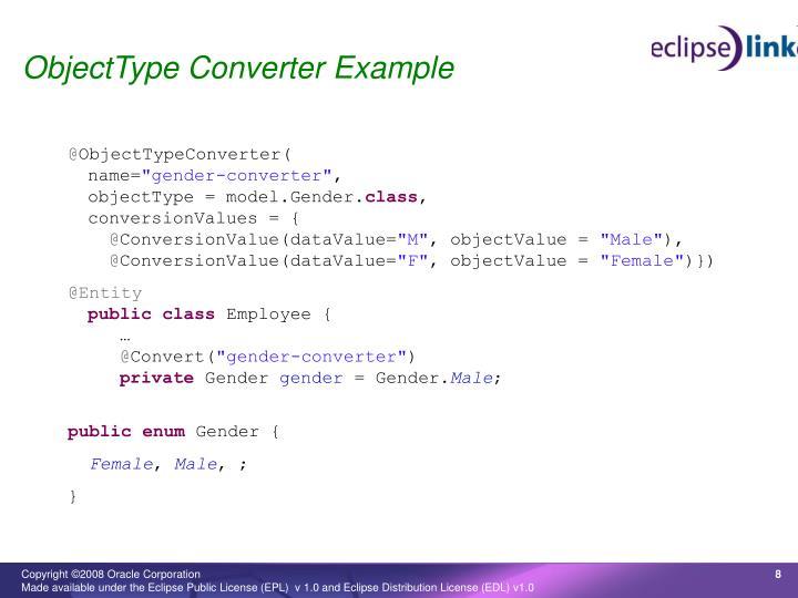 ObjectType Converter Example