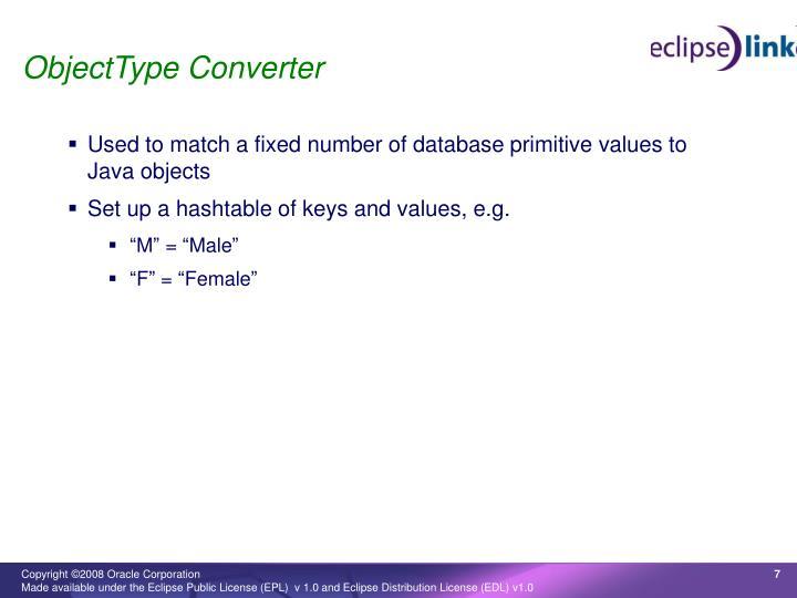 ObjectType Converter