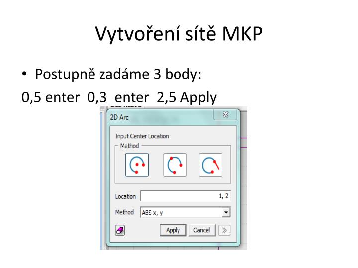 Vytvoření sítě MKP
