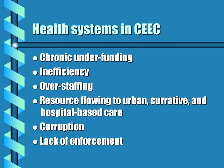 Health systems in ceec