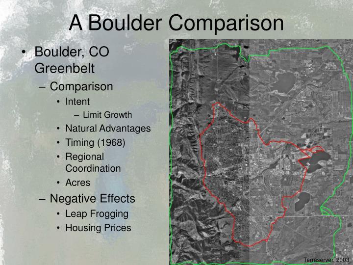 A Boulder Comparison