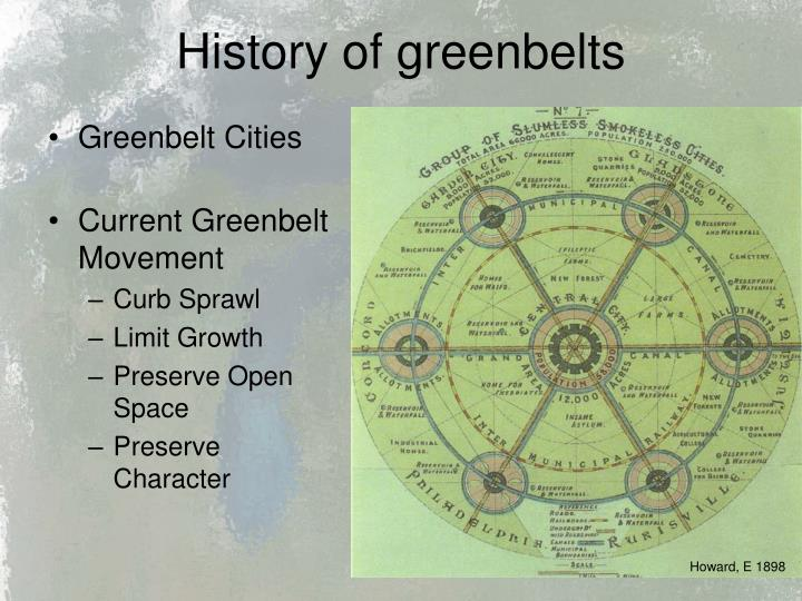 History of greenbelts