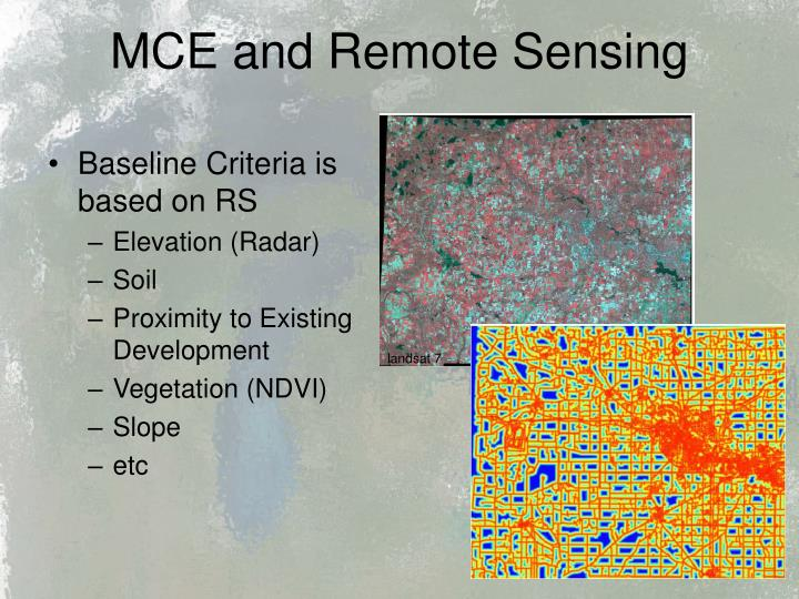MCE and Remote Sensing