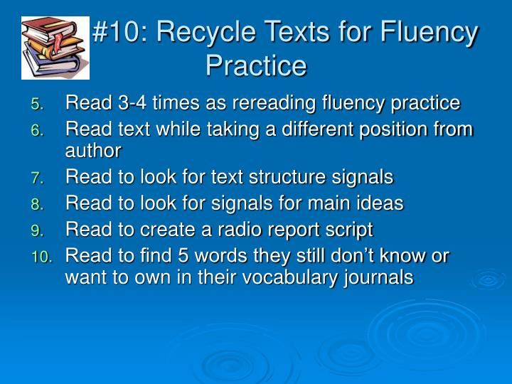 #10: Recycle Texts for Fluency Practice
