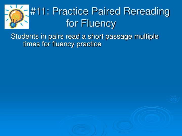 #11: Practice Paired Rereading for Fluency
