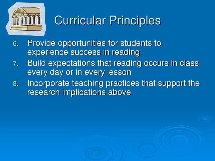 Curricular Principles