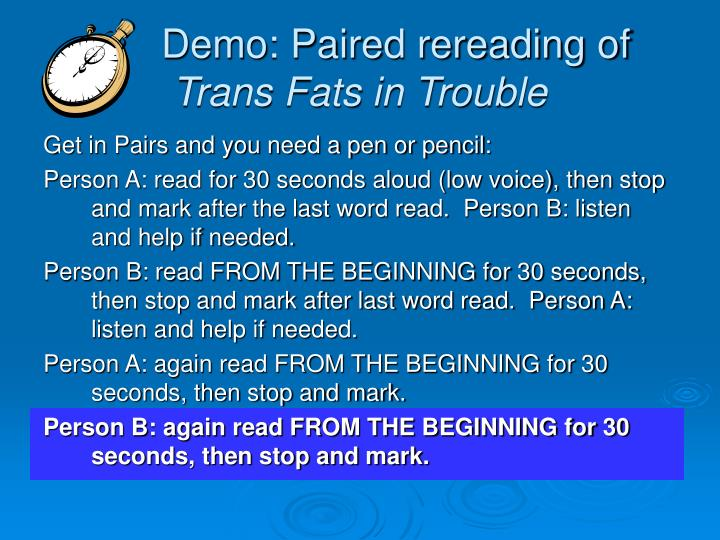 Demo: Paired rereading of
