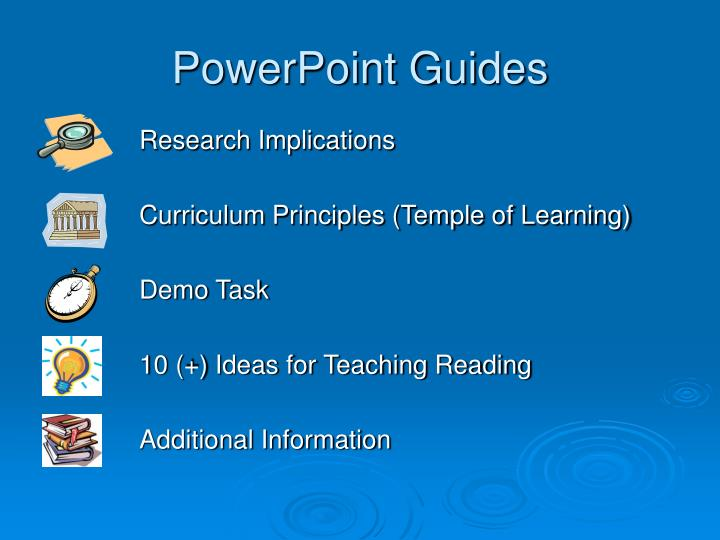 Powerpoint guides