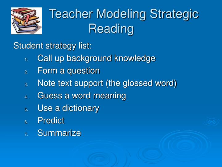 Teacher Modeling Strategic Reading